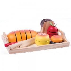 WOODY  Дървен комплект за рязане закуска