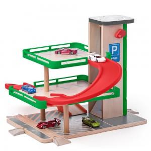 WOODY Дървен гараж с колички SIKU