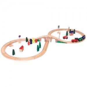 WOODY  Дървен влак с релси 8-ца
